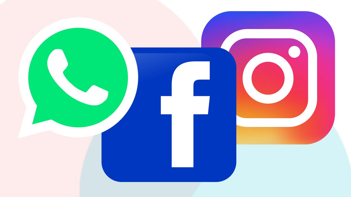 Whatsapp, Facebook, Instagram