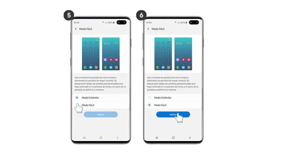 Modo Fácil Samsung Galaxy S10