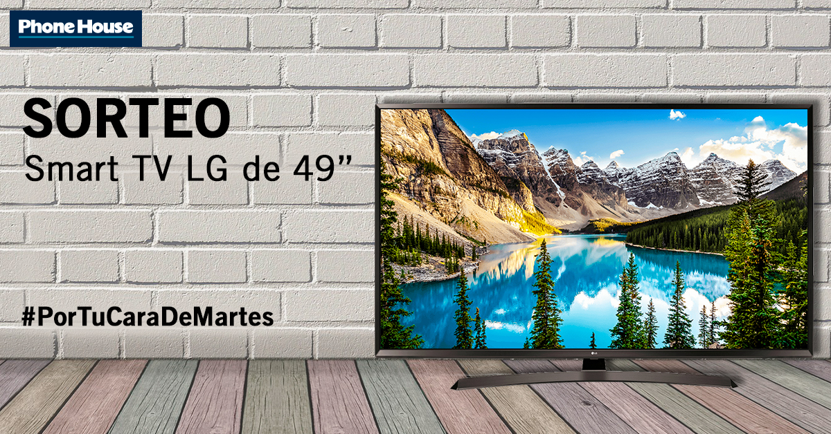 Sorteo Smart TV LG de 49""