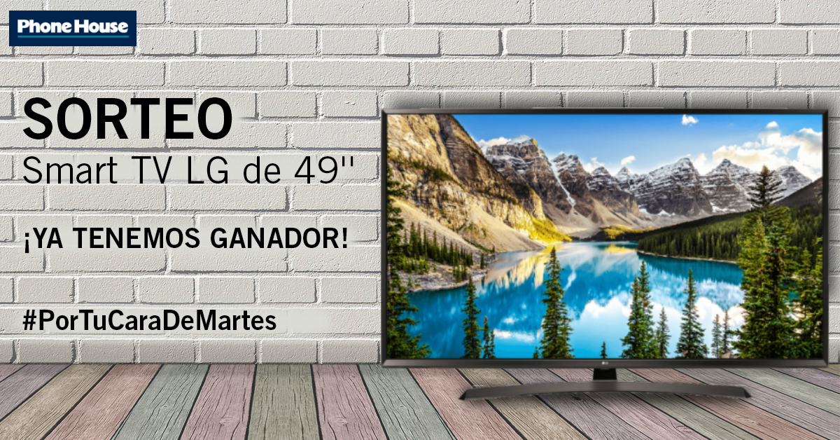 Ganador sorteo Smart TV LG de 49""