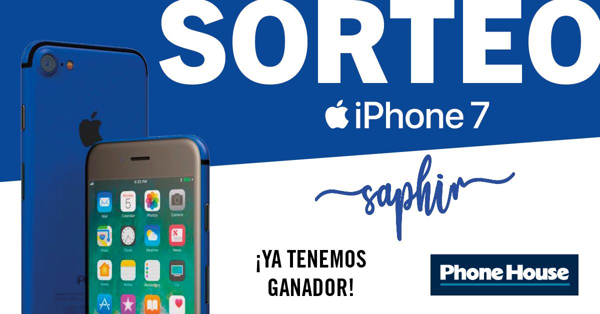Ganador iPhone 7 azul Saphir