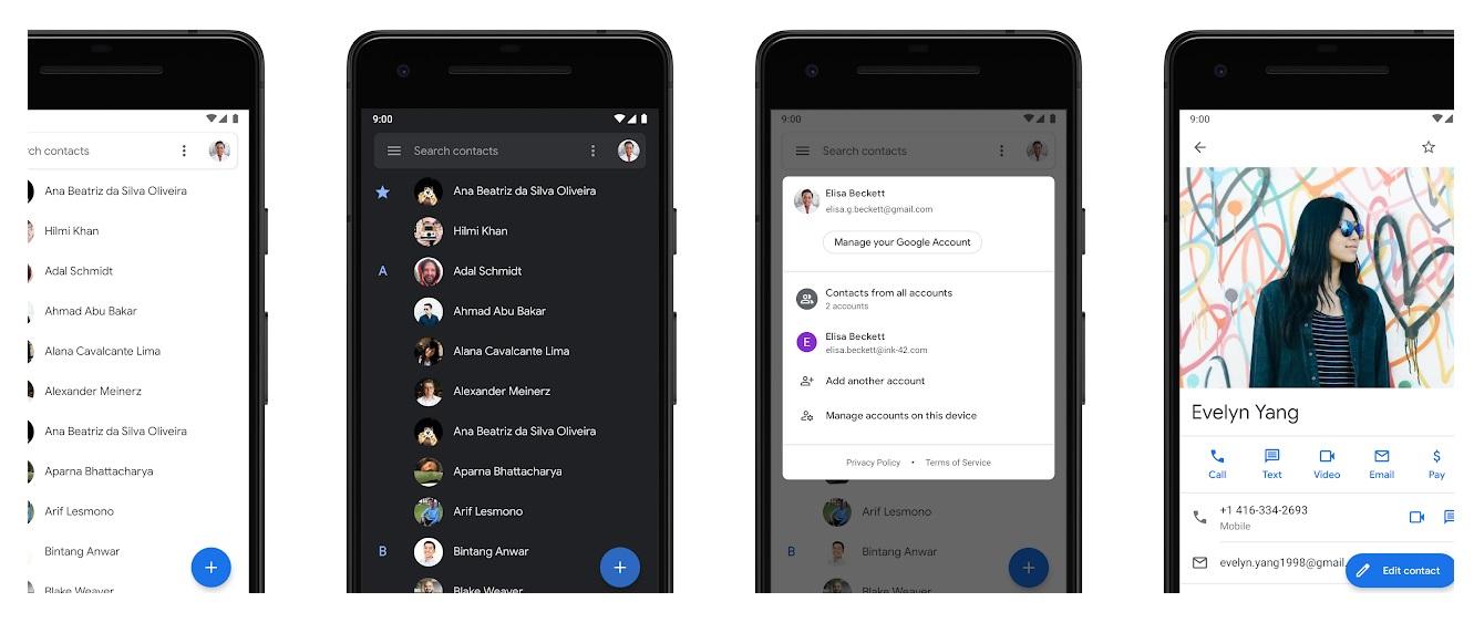 App Contactos de Google