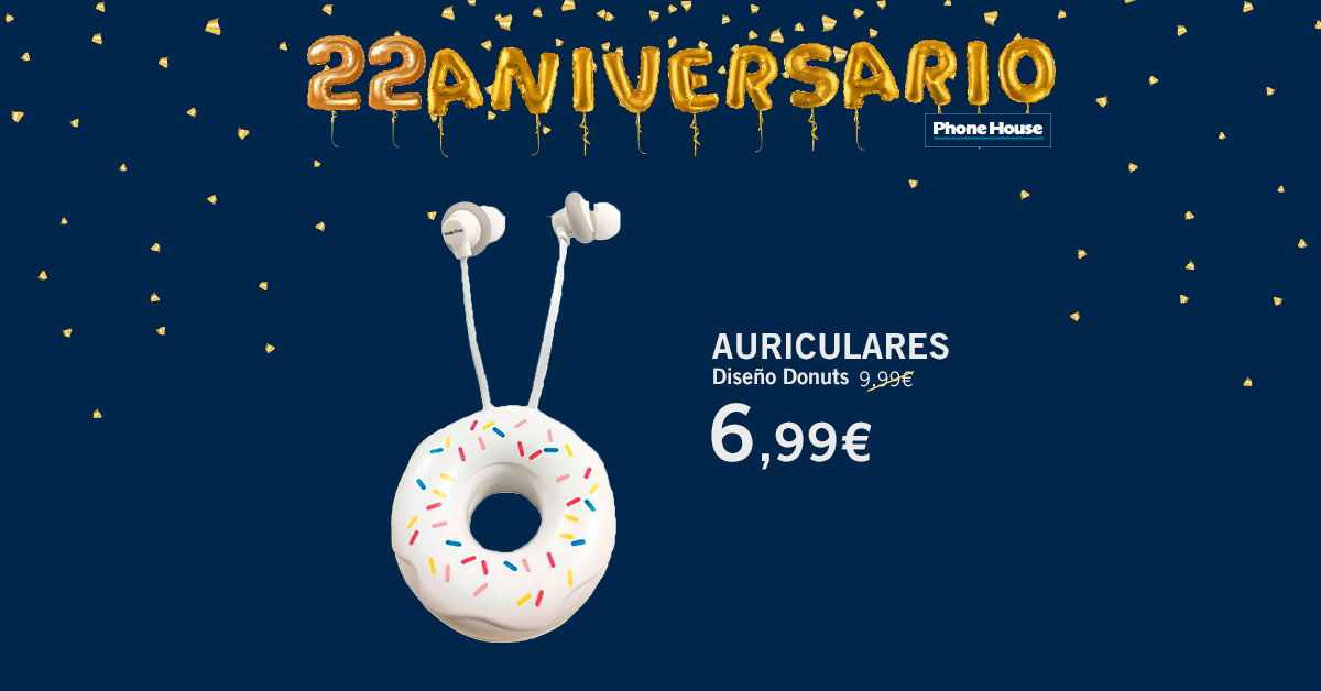 Auriculares ME! tipo donut 22 Aniversario