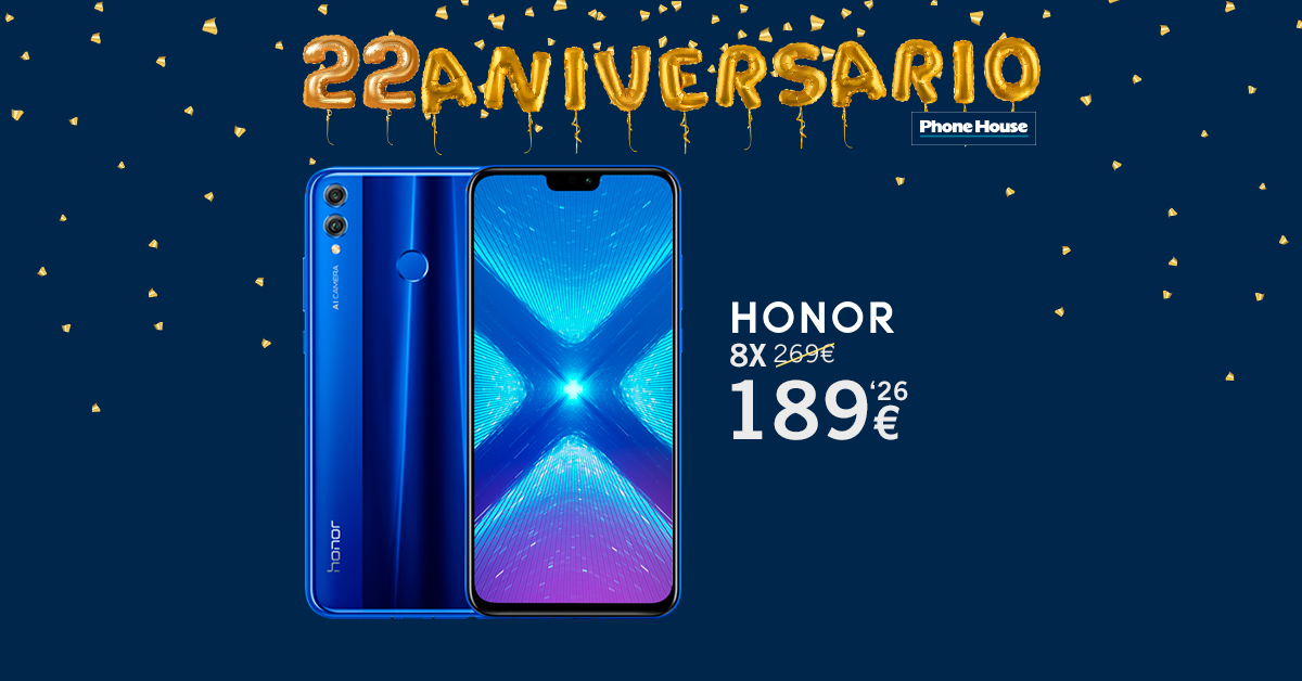Honor 8x 22 Aniversario