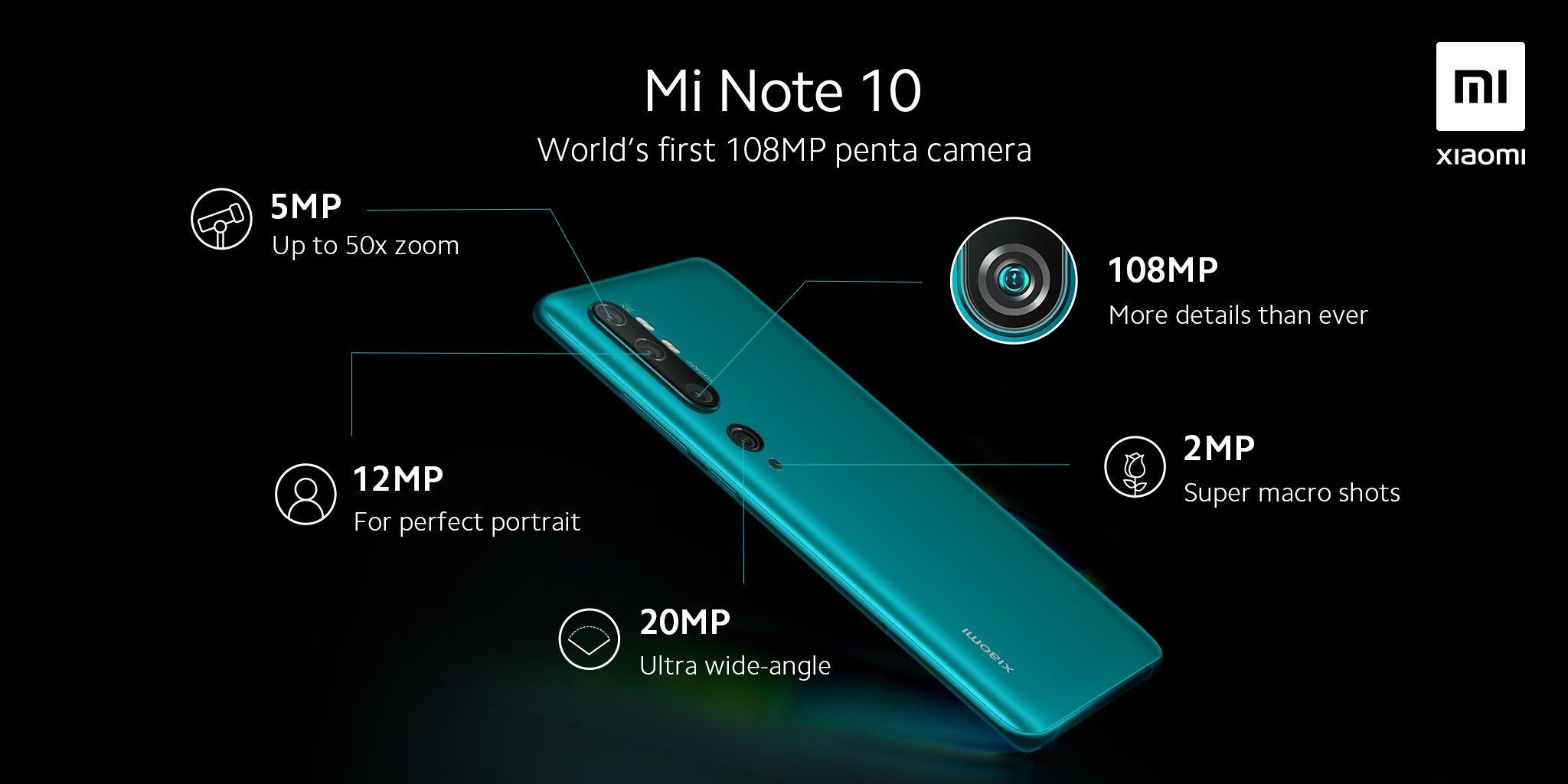 Camaras Xiaomi Mi Note 10