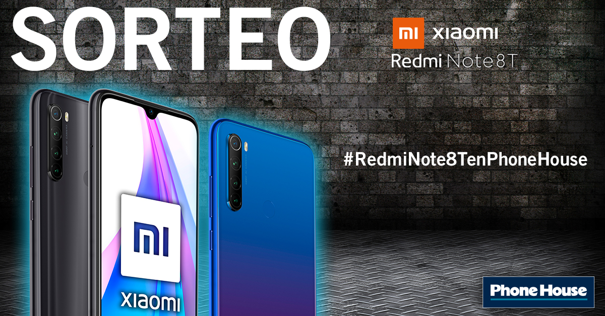 Sorteo Redmi Note 8T
