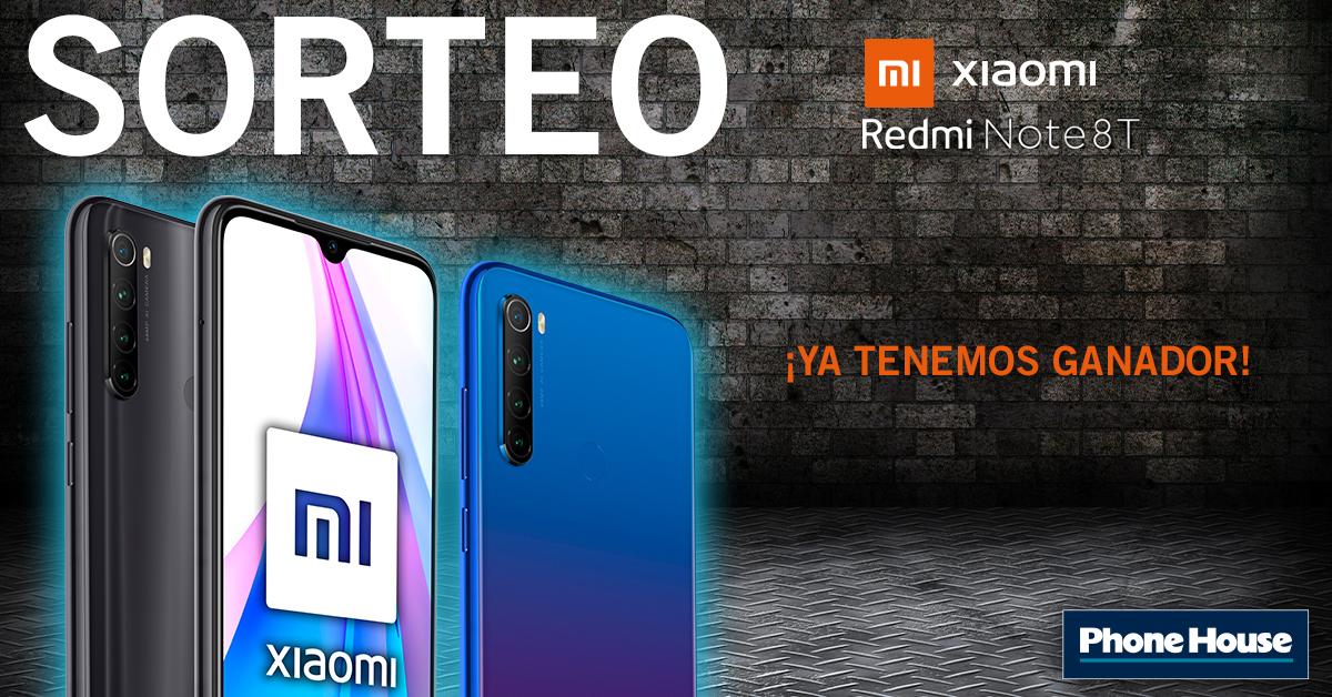 Ganador sorteo Xiaomi Redmi Note 8t
