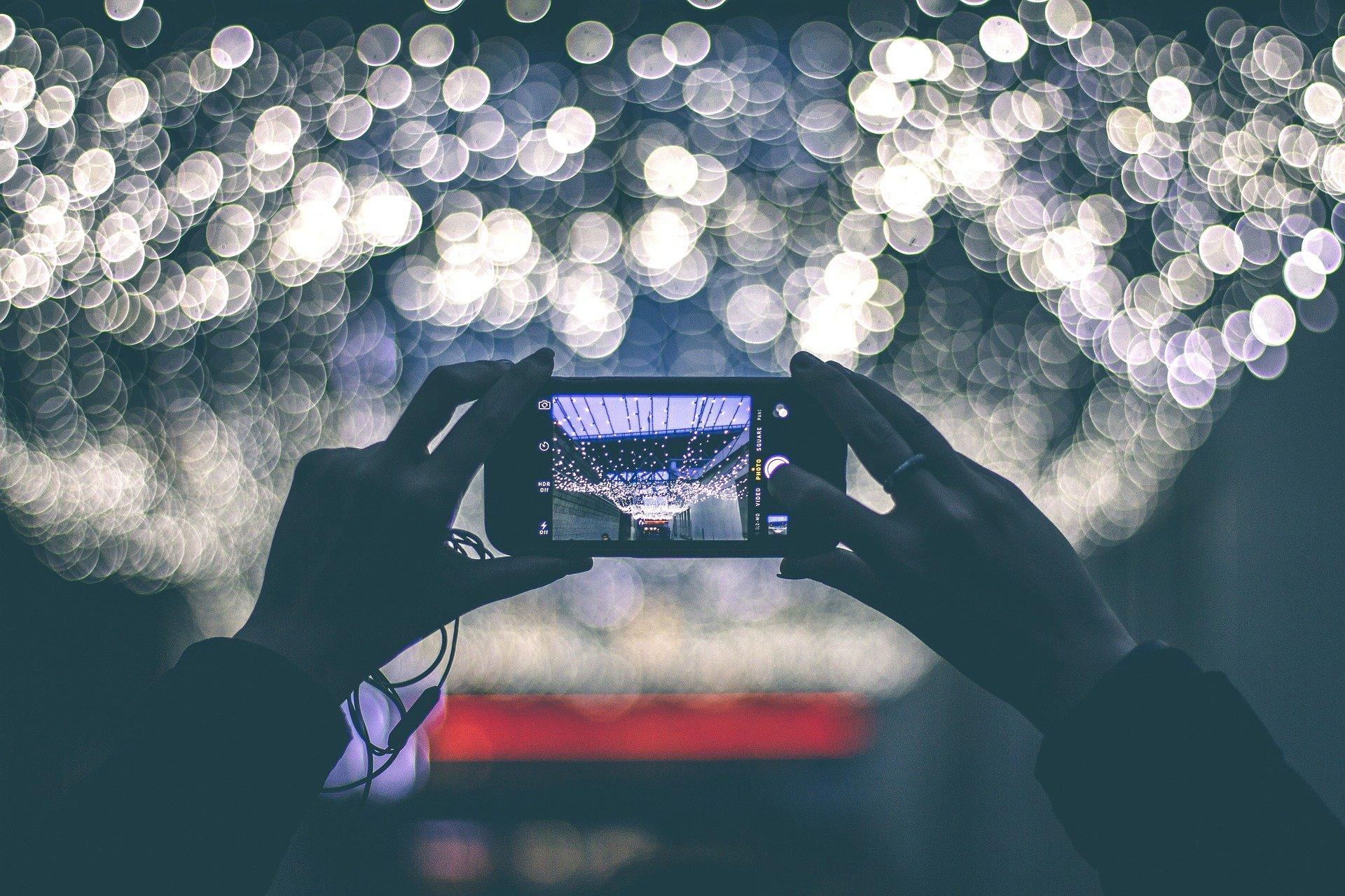 movil foto noche