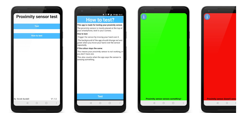 Proximity Sensor Test