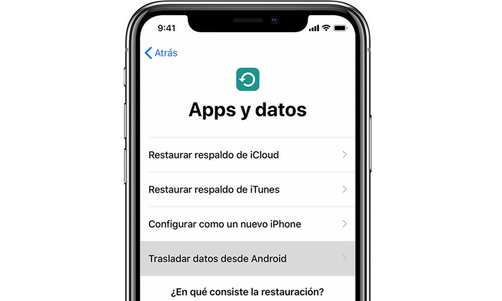 trasladar datos desde android