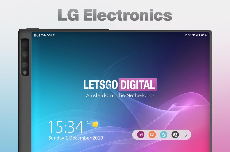 Renders LG móvil plegable