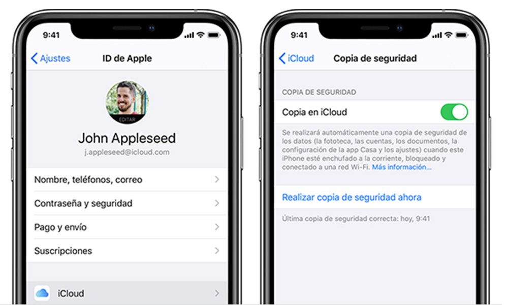 Copia Seguridad Iphone