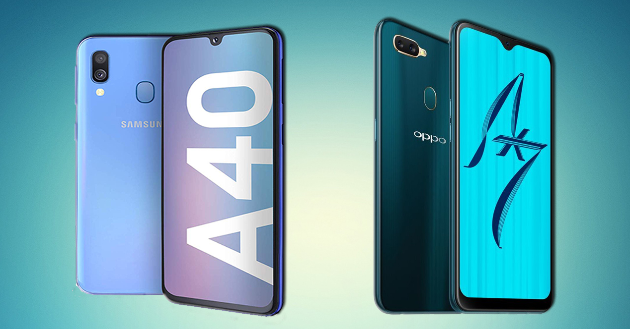 Galaxy A40 Oppo Ax7