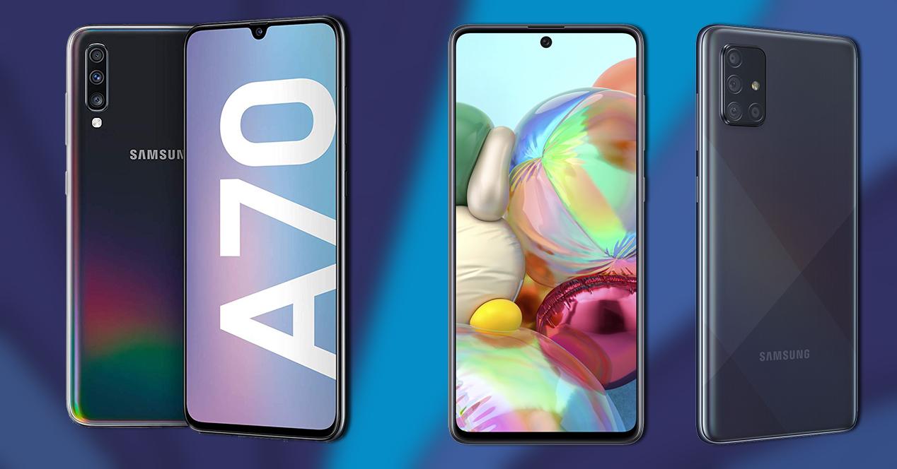 Galaxy A70 Vs Galaxy A71