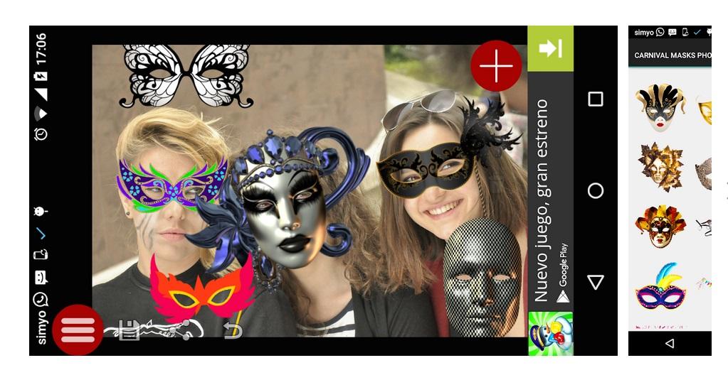 Pegatinas Máscaras Carnavales