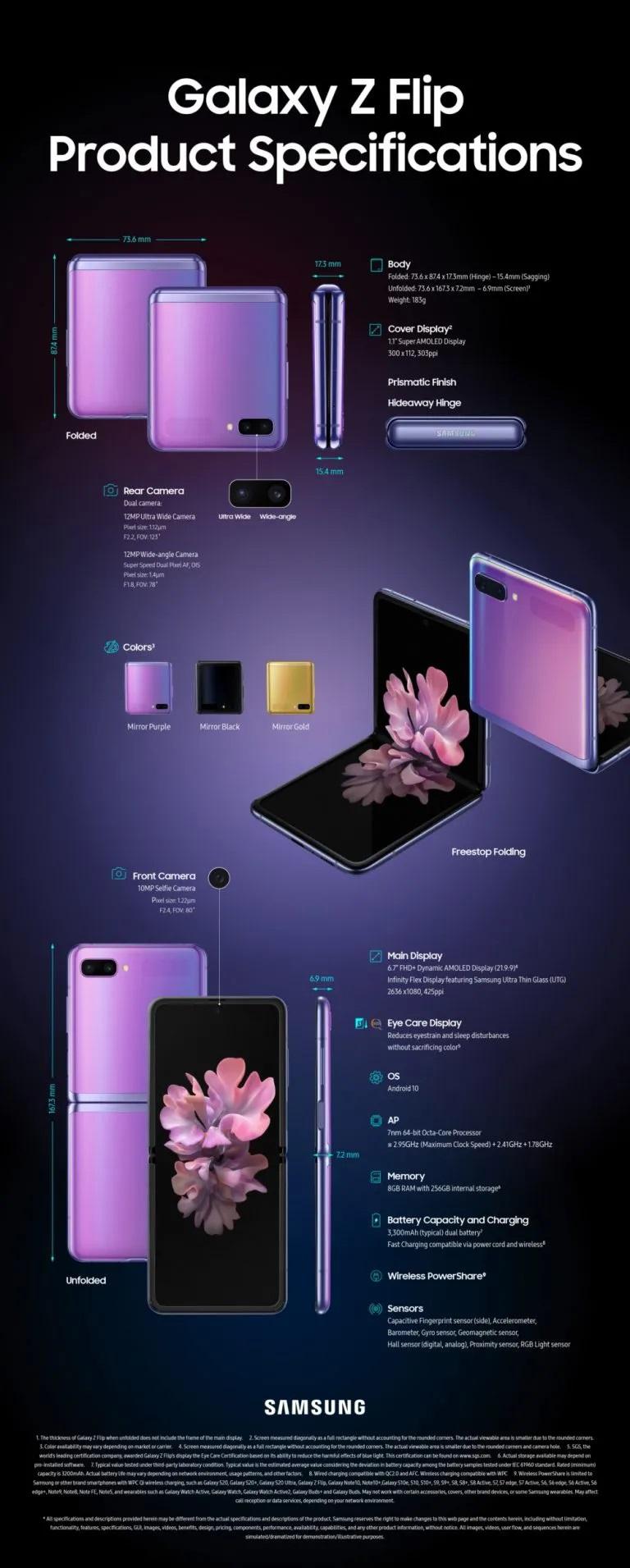 Caracteristicas Galaxy Z Flip