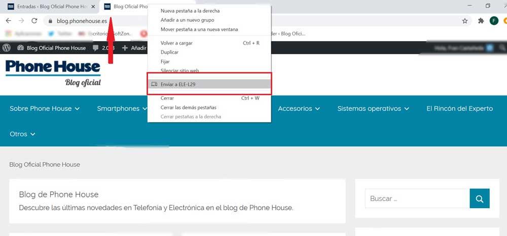 Enviar Pagina De Pc A Movil Con Chrome