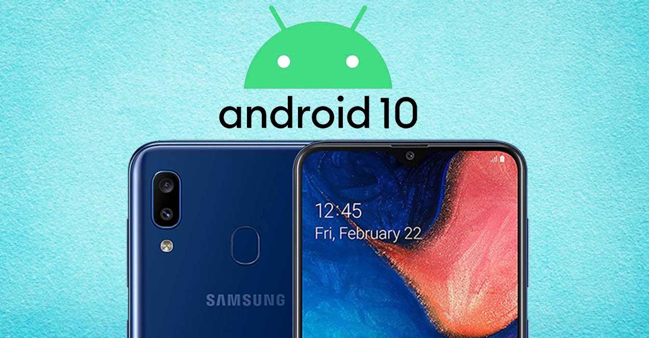 Samsung Galaxy A20e Y Galaxy A20s Reciben Android 10