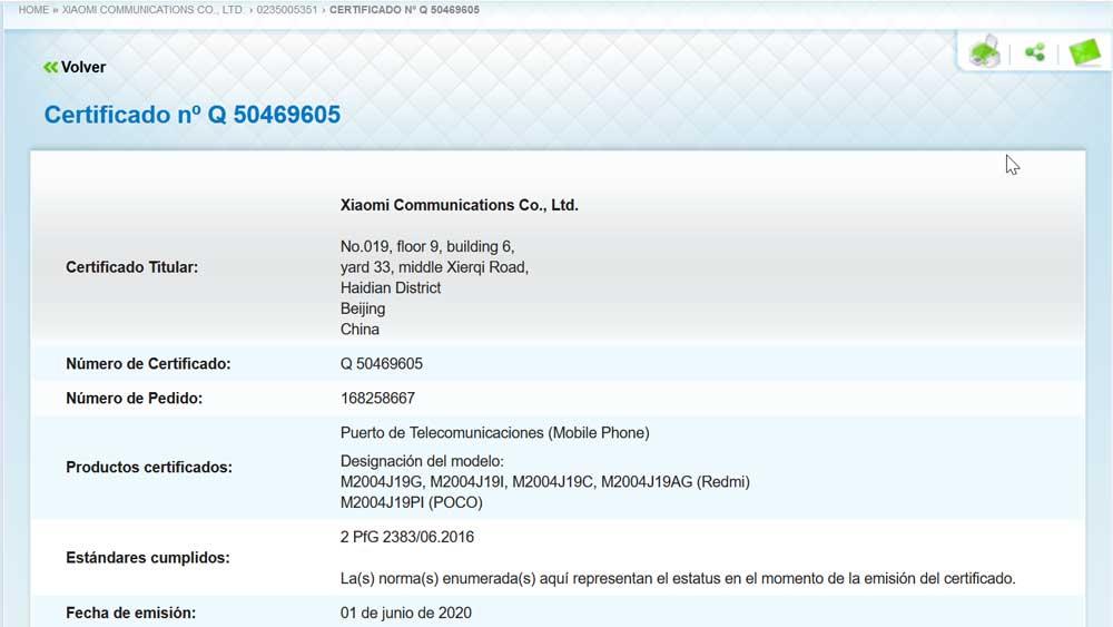 Móviles Xiaomi Registrados En TÜv Rheinland