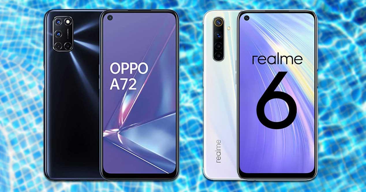 Comparativa Oppo A72 Vs Realme 6