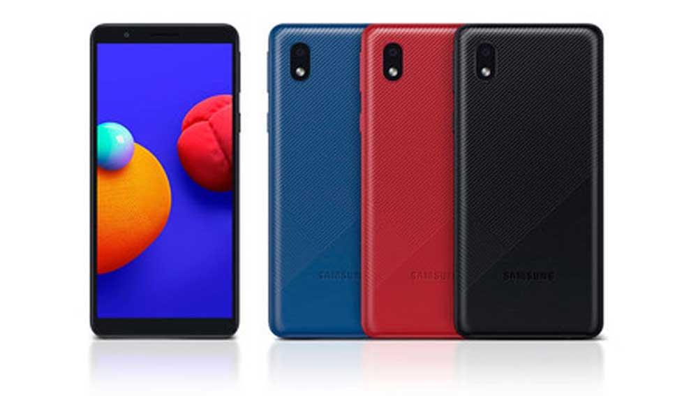 Galaxy A01 Core Azul Negro Y Rojo