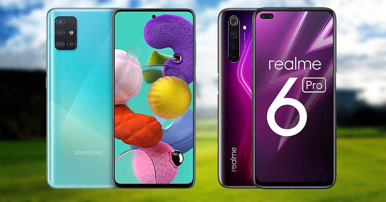 Galaxy A51 Y Realme 6 Pro