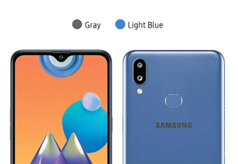 Galaxy M01s Color Azul Y Gris