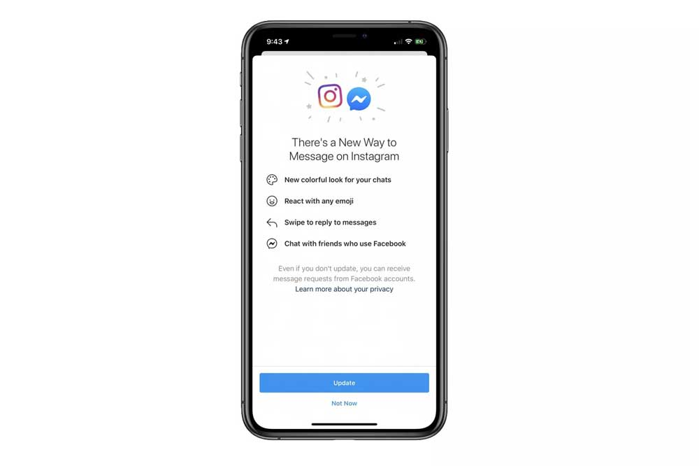 Actualización De Instagram Incorporando Messenger