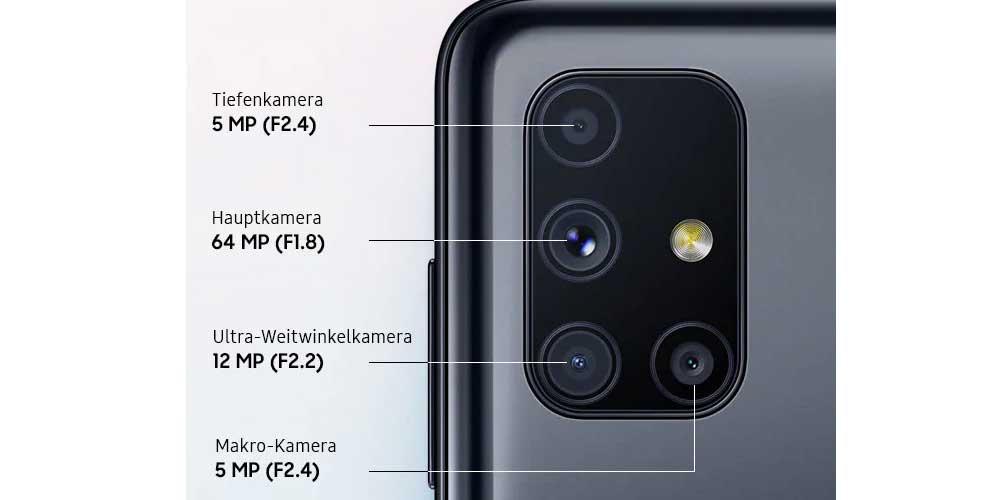 Camaras Galaxy M51