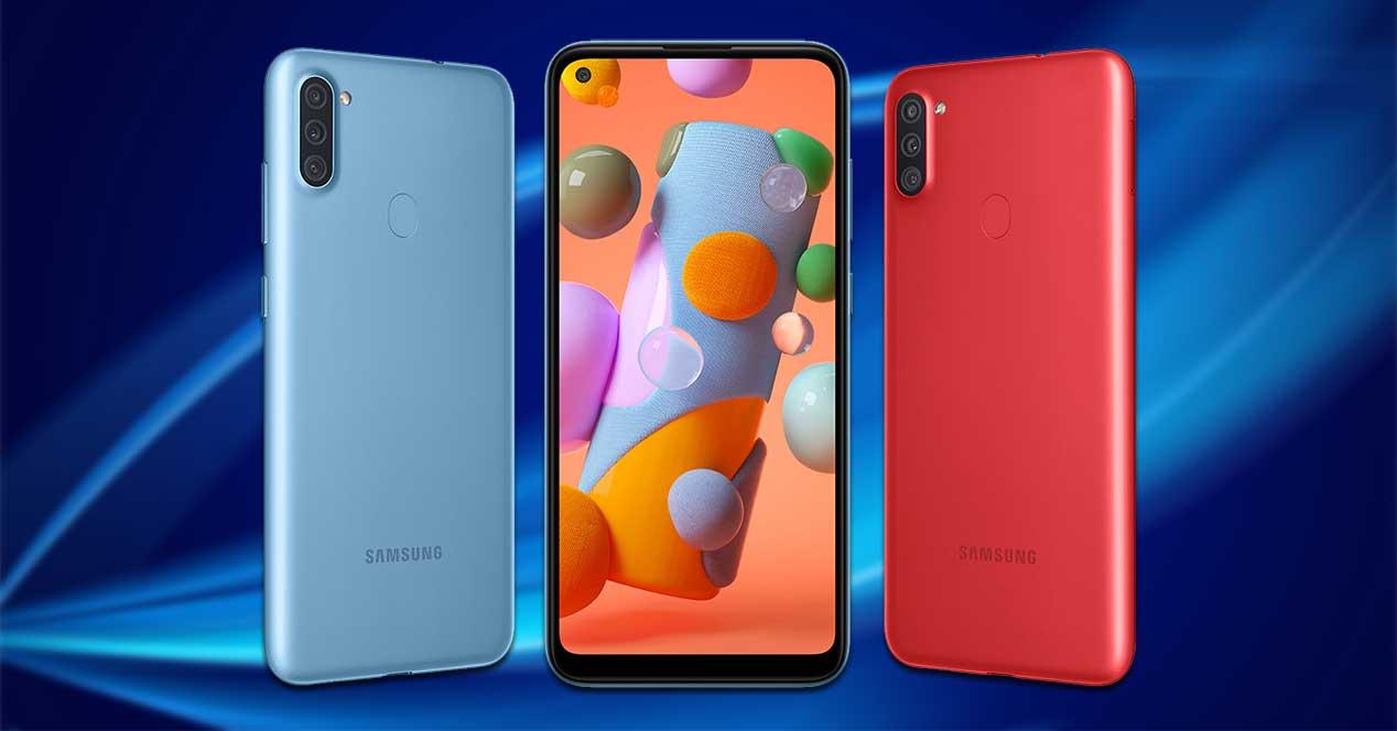 Galaxy A11 Azul Y Rojo