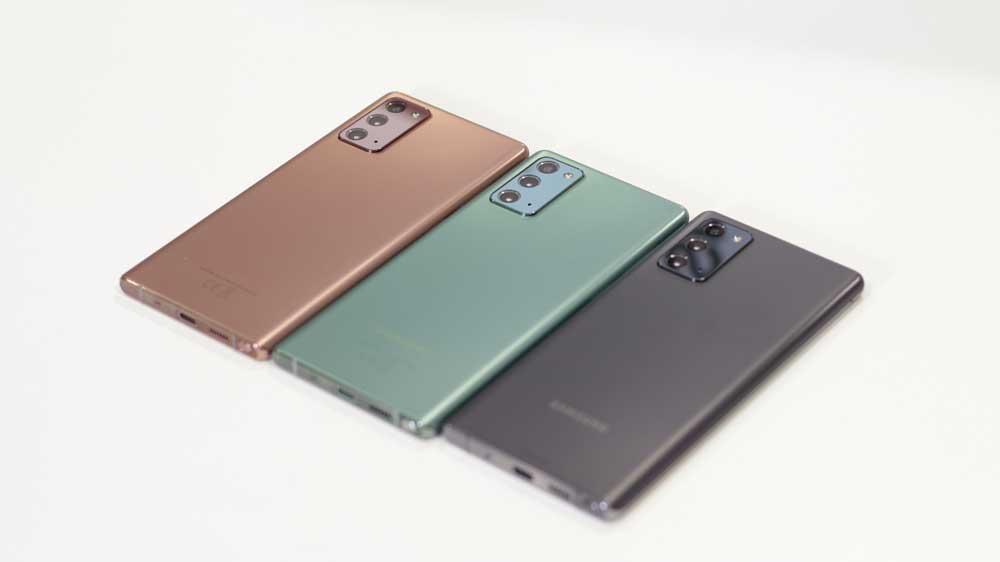 Samsung Galaxy Note 20 Parte Trasera En Varios Colores