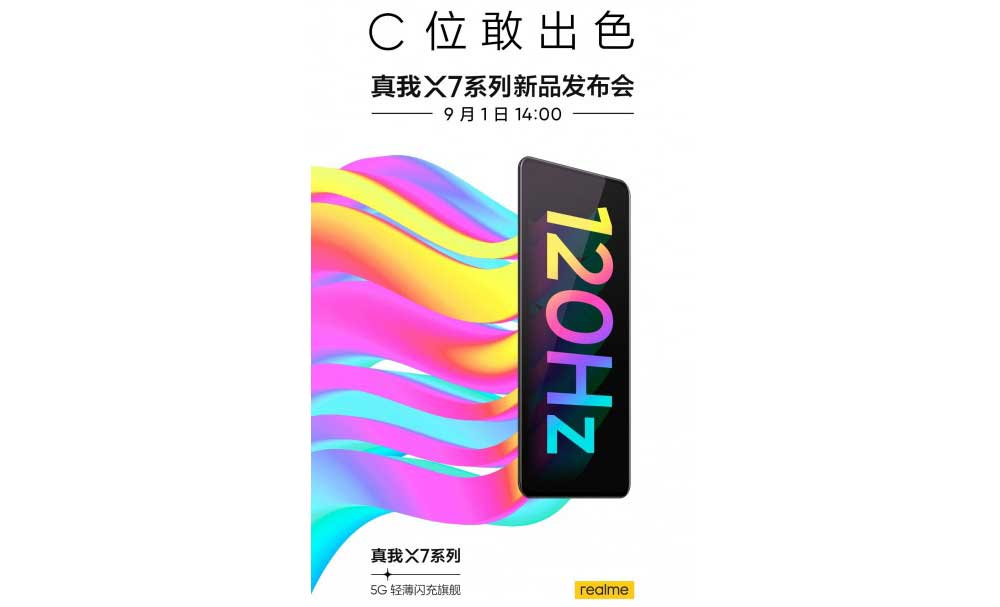 Poster Presentacion Gama Realme X7