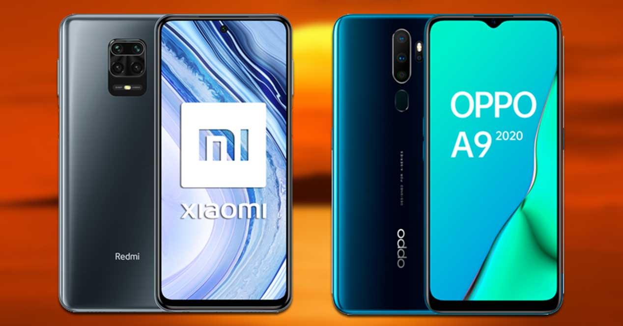 Comparativa Xiaomi Redmi Note 9 Pro Vs Oppo A9 2020