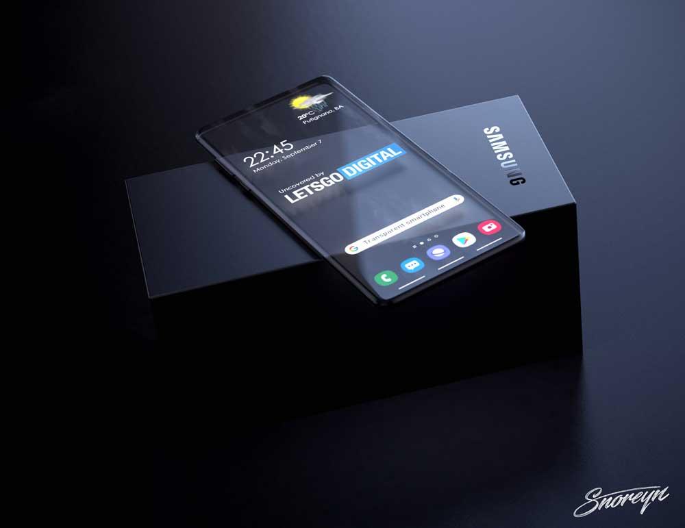 Doorzichtige Smartphone