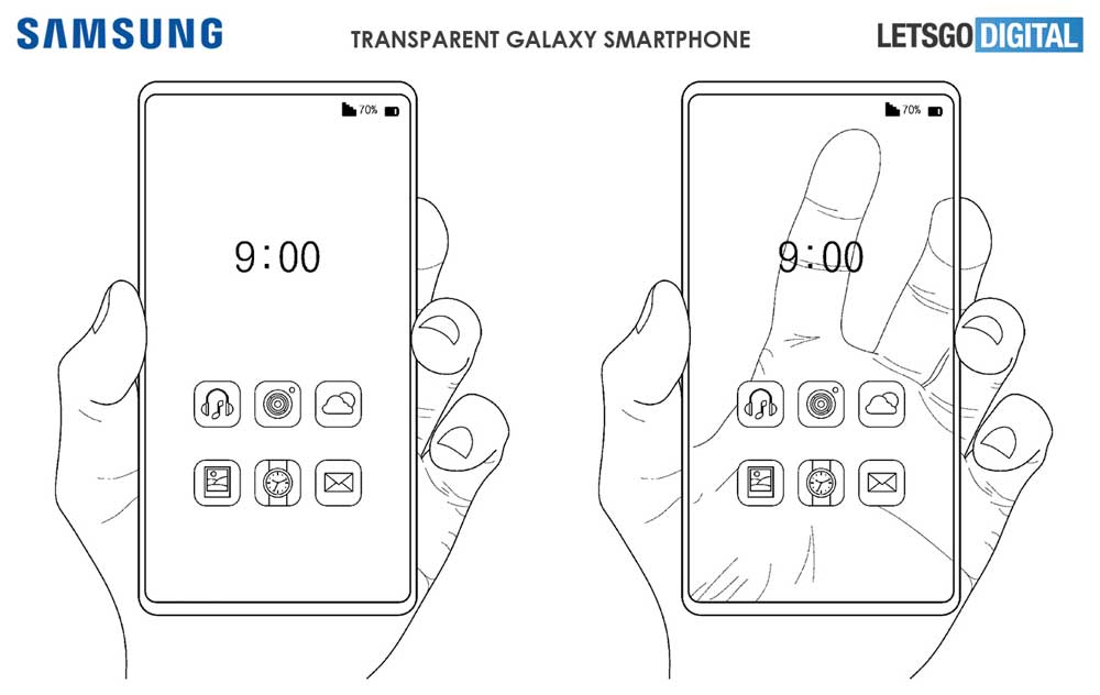 Transparante Samsung Telefoon