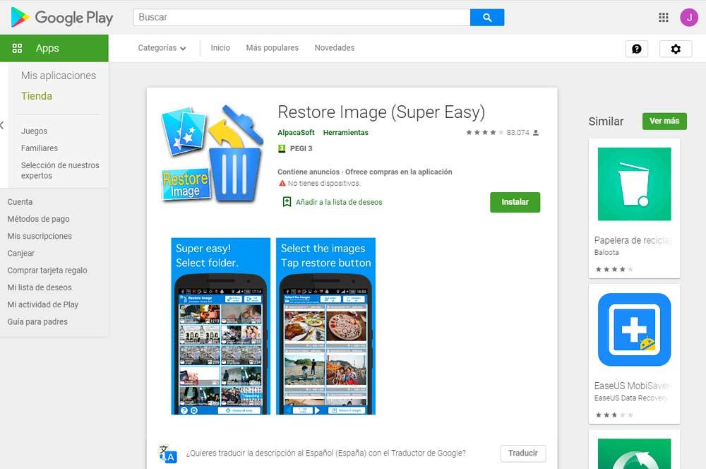 Apps Fotos Borradas 2