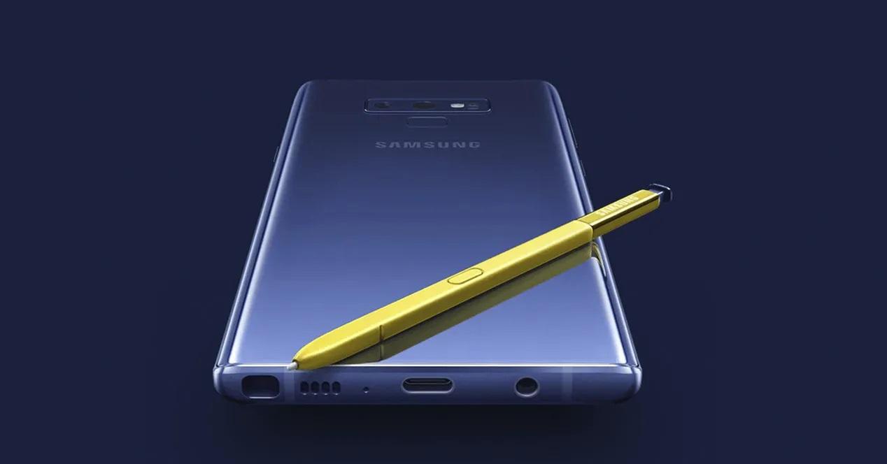 Actualizacion Samsung Galaxy Note 9