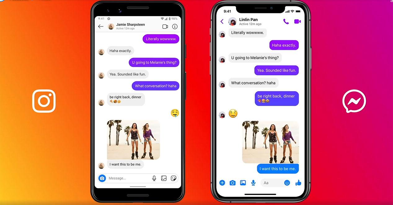 Cruzar Mensajes Messenger E Instagram