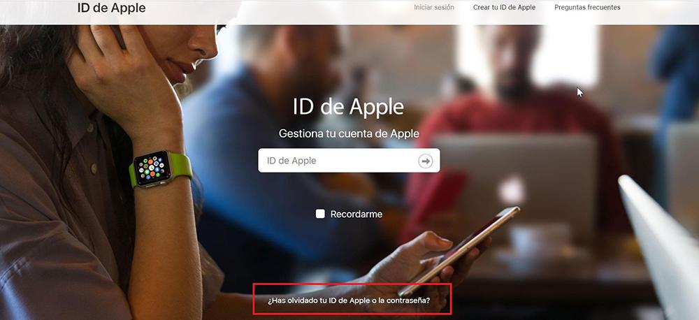 Recupera Id Apple