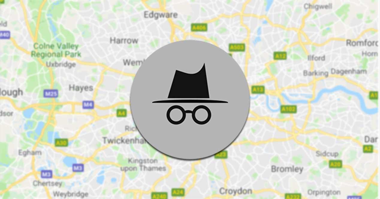 Modo Incógnito Google Maps