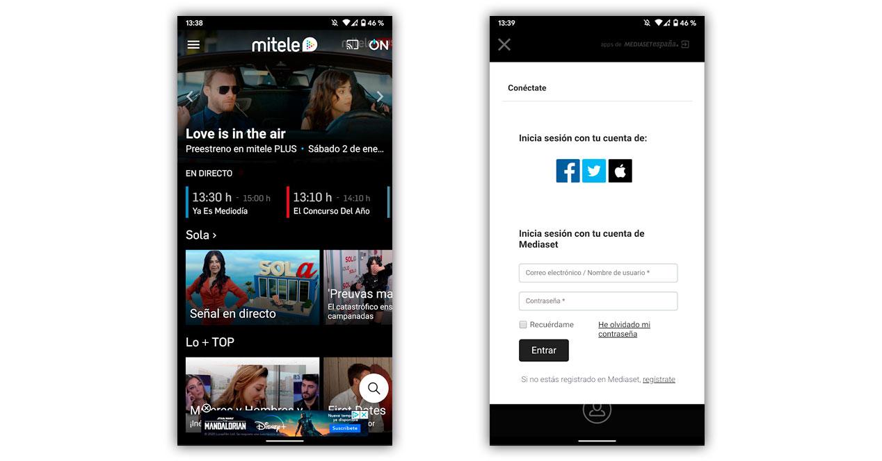 Mitele Directo Telecinco App