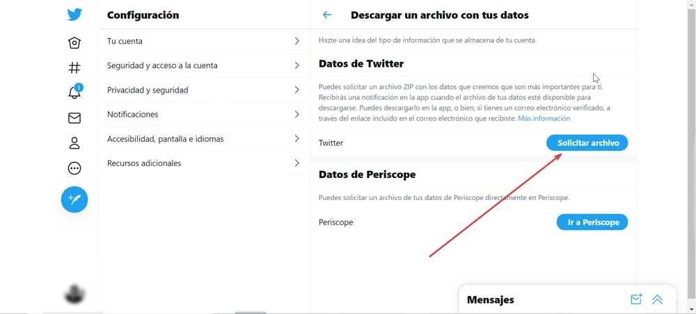 Datos Twitter Web