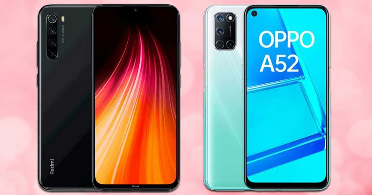Xiaomi Redmi Note 8 Vs Oppo A52
