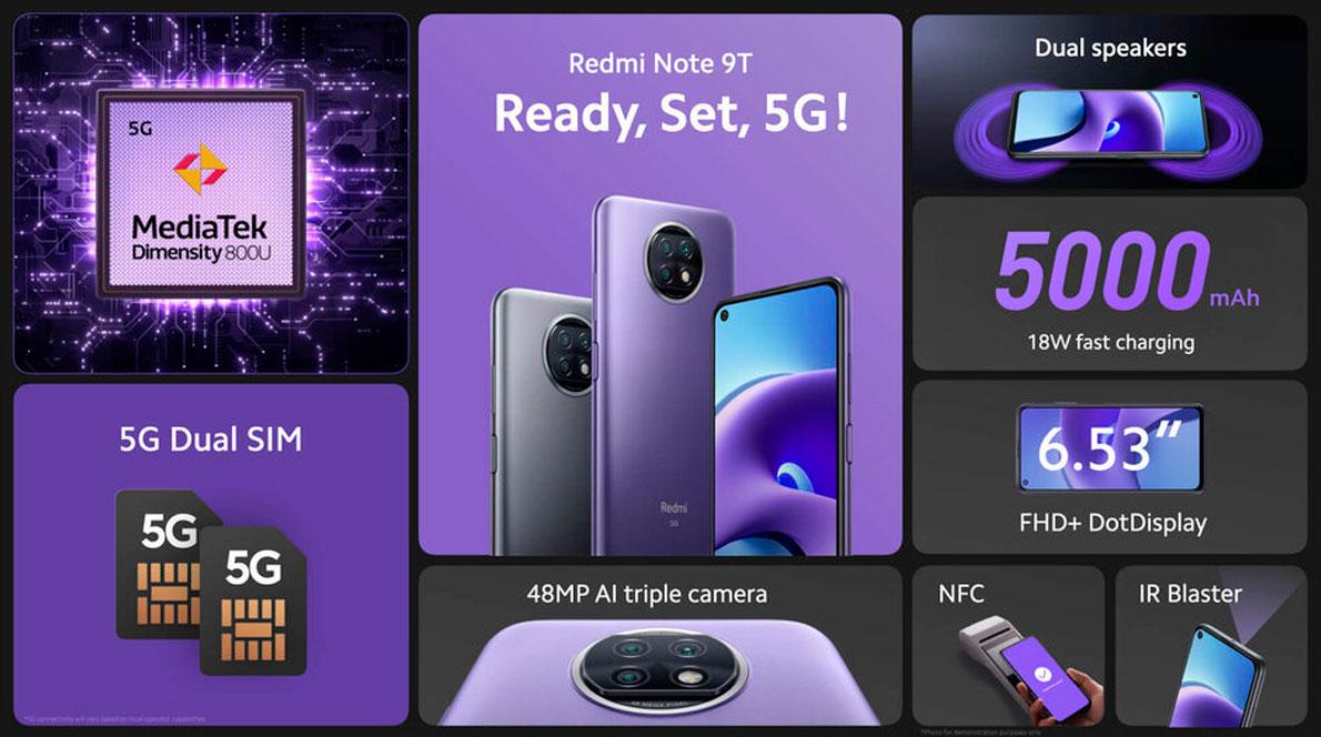 Características Redmi Note 9t