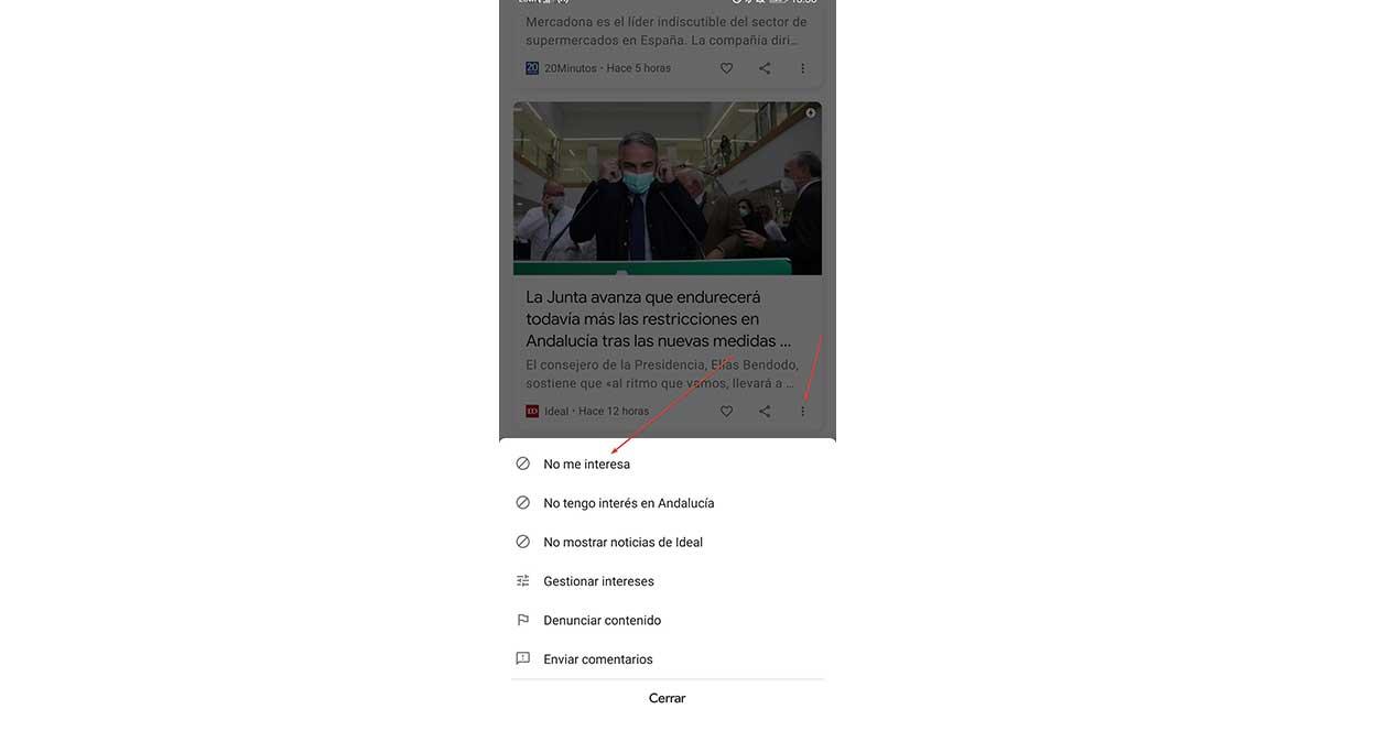 Noticias De Google No Me Interesa