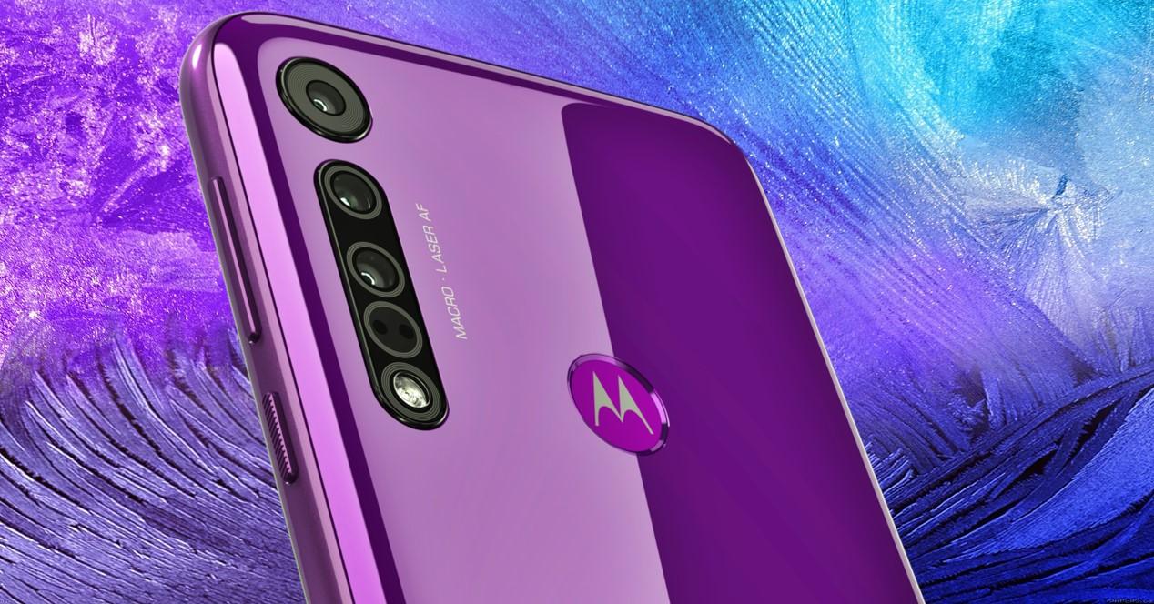 Motorola Morado Y Fondo Morado