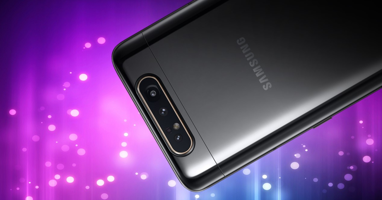 Samsung Galaxy A80 Y Fondo Burbujas