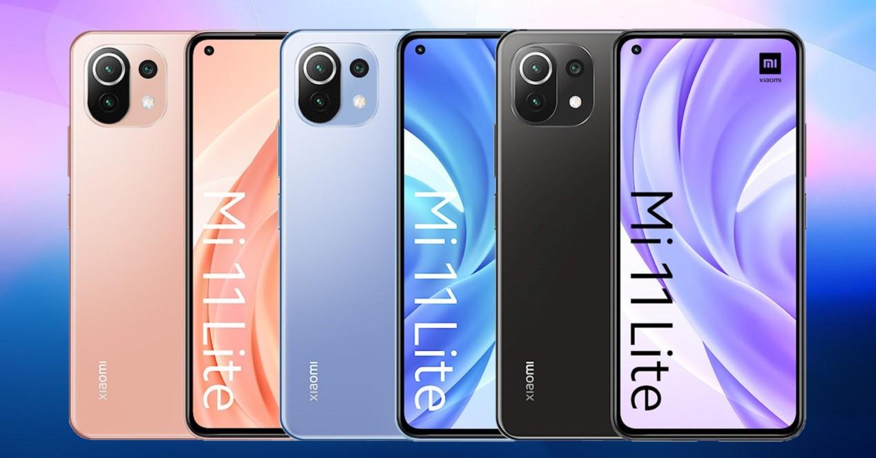 Xiaomi Mi 11 Lite Colores Y Fondo Azul