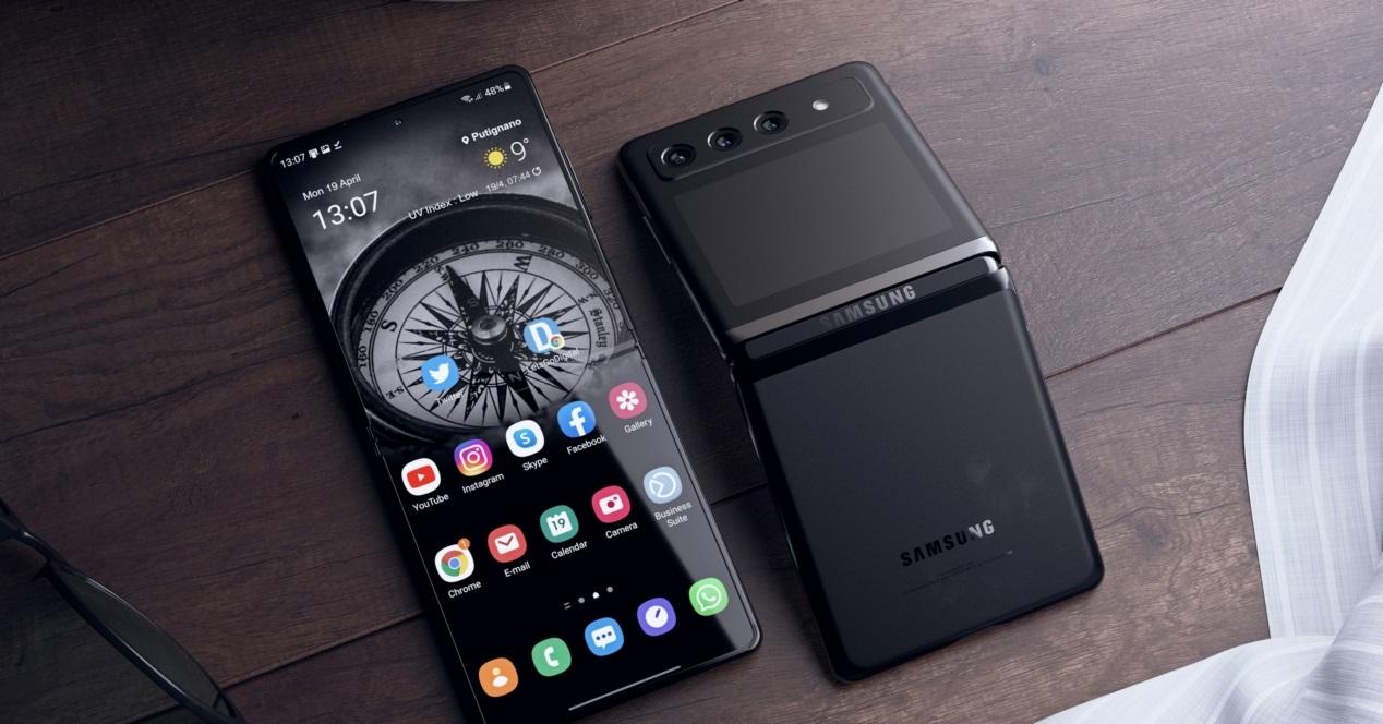 Samsung Galaxy Z Flip 2 Diseño Conceptual