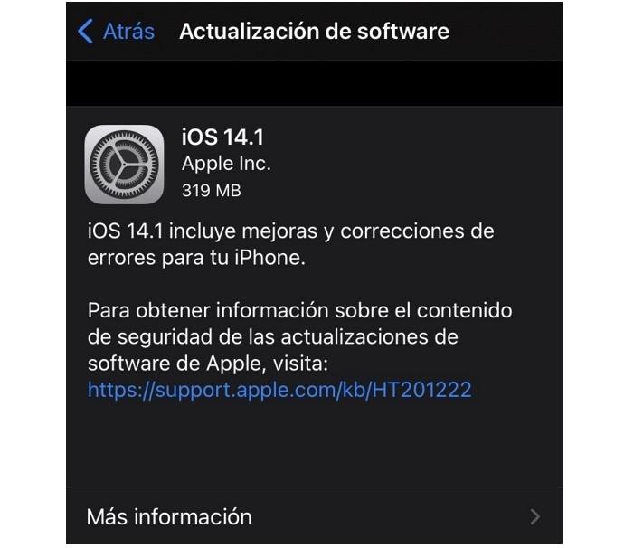 Ios 14.1 Actualizacion